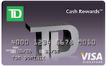 The TD Easy Rewards Card: 5% Cash Back on Dining, Groceries, Gas, and Cable, Phone and Utility Bills for 6 Months, Plus $100